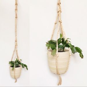 Twine plant hanger • Boho
